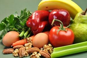 Gemüse, Obst, Kräuter und Nüsse