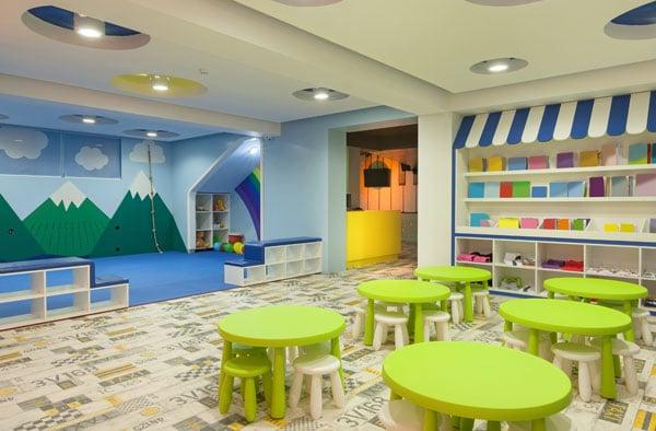 Ein leerer Kindergarten